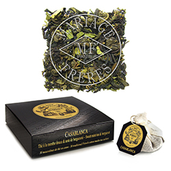 Casablanca tea bags : black tea and green tea with mint and bergamot