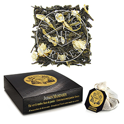 Jasmin Mandarin tea bags : Chinese green tea with jasmine blossoms
