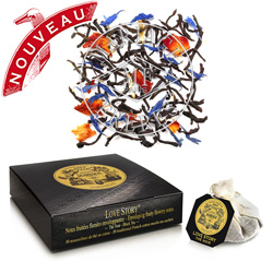 Love Story tea bags : black tea with fruity flowery notes