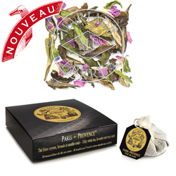 Paris Provence tea bags : white tea with lavender spearmint and rose