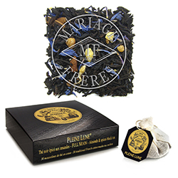 PLeine Lune tea bags : poetic blend of almond, black tea and taste of honey