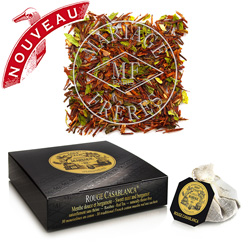 Rouge Casablanca tea bags : rooibos mint and bergamot