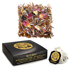 Rouge Métis tea bags : rooibos with red and black fruits, citrus, spices and flowers