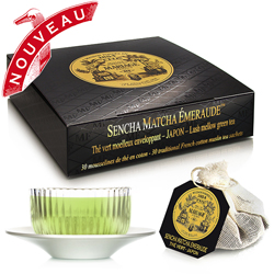 Sencha Matcha Emeraude tea bags : Japanese organic green tea