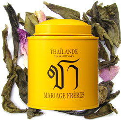 THAILAND - Thé des Offrandes : green tea with flowers from Les Calligraphies du Thé tea collection