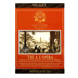 Thé À L'Opéra - Opera tea : Ice green tea with vanilla and red fruits from French Iced Tea collection. Individual tea bag easy to cold brew
