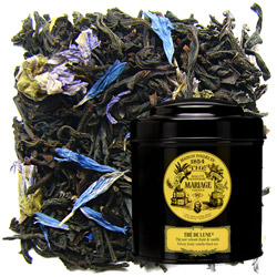 Thé De Lune in Icône black canister : vanilla black tea with fruity flowery bouquet