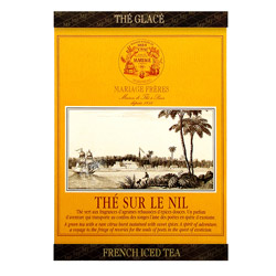 Thé Sur Le Nil : Thé vert glacé au citron et au fruit de la collection French Iced Tea.Sachet individuel ou mousseline facile à infuser à froid