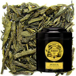 Thé sur le Nil - Nile tea in Icône black canister : citrus green tea with lemon notes