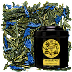 Green Tea Marco Polo in Icône black canister : fruity and flowery green tea