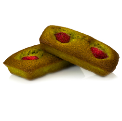 Financier made with Matcha, Japanese green tea in powder